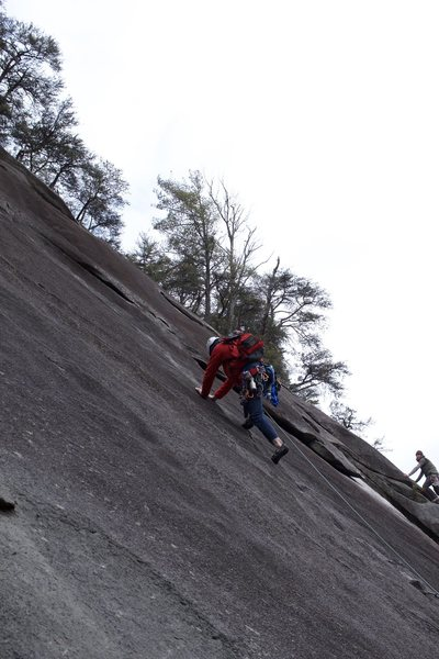 Pitch 1 of Block route leading up to the start of The Great Arch.