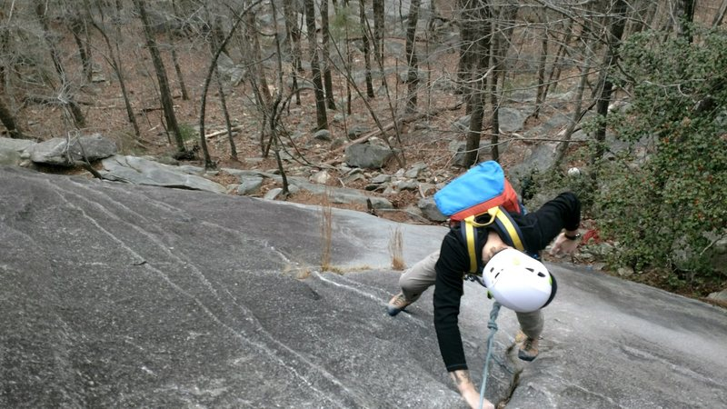 Pitch 1 of Block route leading up to pitch 1 on the Great Arch.