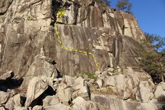 Rock Climbing Photo: View of the route from the trail.
