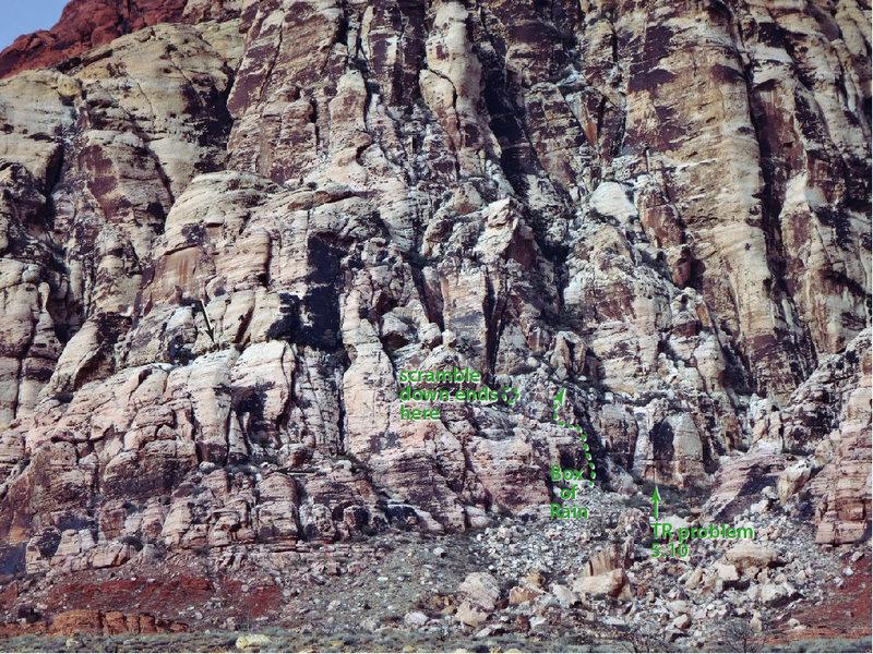 Rock Climbing Photo: Box of Rain location