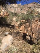 waterfall rockslide, yikes!