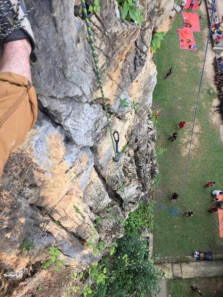 Rock Climbing Photo: From route 6 in the topography photo. Felt more li...