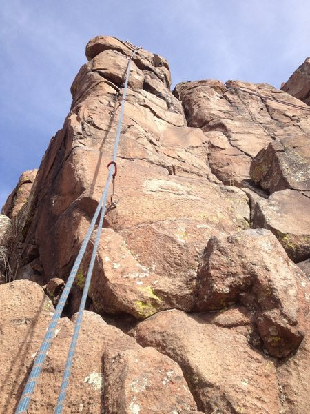 A close up of the climb.