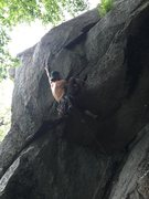 Rock Climbing Photo: If your short you place the stopper mid crux from ...