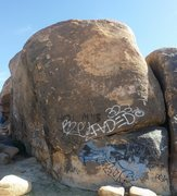 Rock Climbing Photo: Mickey's Wall West end showing bolted route (t...
