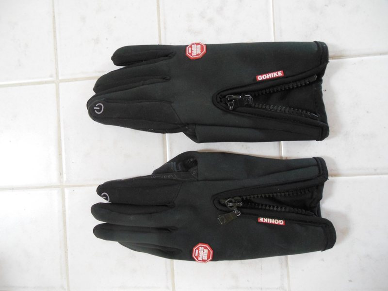 Top side of gloves