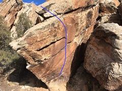 Rock Climbing Photo: Beta for Death of a Blue Ukulele.