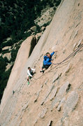 Rock Climbing Photo: Eric Peterson, age 6, on the route