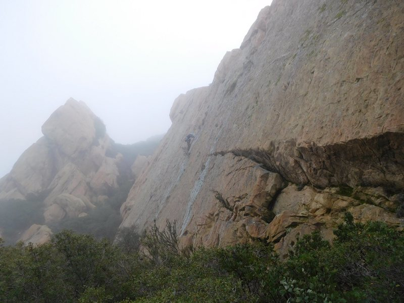 """Rock Climbing Photo: The wide view of """"Path of Enlichenment."""""""