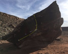 Rock Climbing Photo: North face of Ripple boulder.