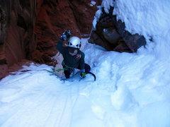 Rock Climbing Photo: Swinging the Fuels...