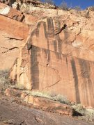 Rock Climbing Photo: The thin seam just left of center is Physical Graf...