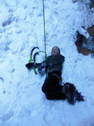 Rock Climbing Photo: Lowe, exhausted after P4 of Hidden Haven.  It'...