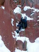 Rock Climbing Photo: rapping off Hidden Haven