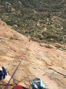 Rock Climbing Photo: Looking down at Paige from the second belay statio...