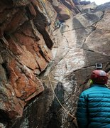Rock Climbing Photo: Kevin discovers why The Dihedral is one of the mos...