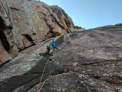 Rock Climbing Photo: Kevin prepares to get into the business on Crazy A...