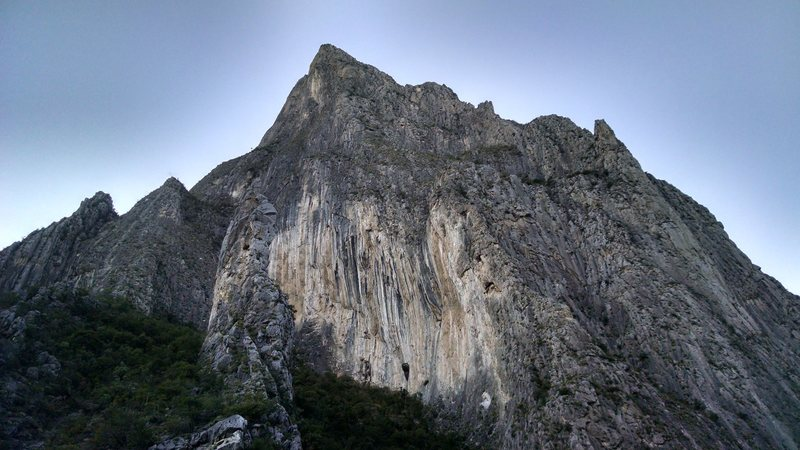 Just before sunset. TimeWave Buttress is on the left side of this image.