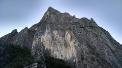 Rock Climbing Photo: Just before sunset. TimeWave Buttress is on the le...