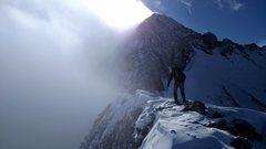 Rock Climbing Photo: Danny Gilbert on Wilson Peak's NW Ridge (Feb. ...