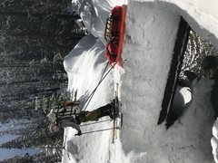 Rock Climbing Photo: Snow Pack Level in Lodgepole Jan 2017