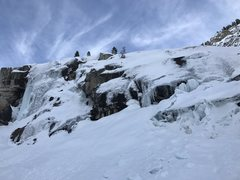 Rock Climbing Photo: 1-4-17 Lots of snow this year has created decent i...