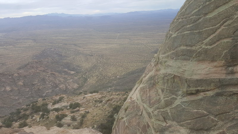 Rock Climbing Photo: The Potato and its crazy dikes, from the top of th...