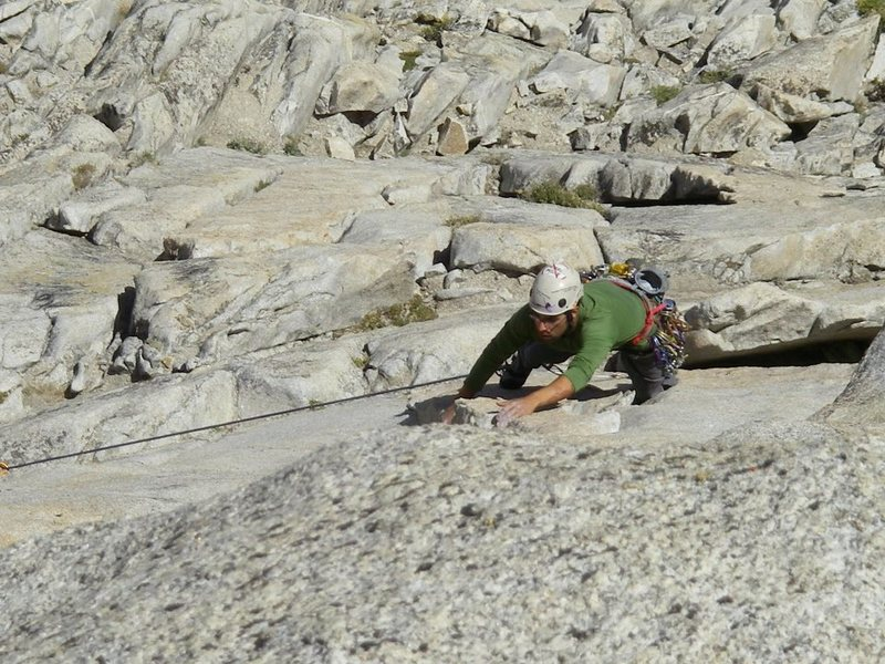 Rock Climbing Photo: Second Pitch of Third Pillar of Dana, High Sierra