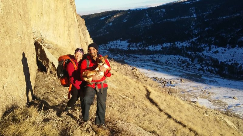 With two of my favorite partners, Sinks Canyon, WY