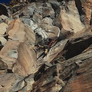 Rock Climbing Photo: Kyle, entering the crux.