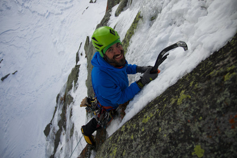 Chance Traub making the first ascent of The Rancor.