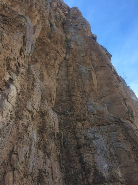 Rock Climbing Photo: Rope at the 4th bolt.