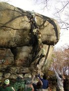 Rock Climbing Photo: This is supposed to be 5.9 as a top rope, but that...