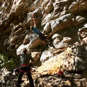 Rock Climbing Photo: Combat Zone @ Little River Canyon
