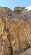 Rock Climbing Photo: Superbowl LIback follows the rope on the left, But...
