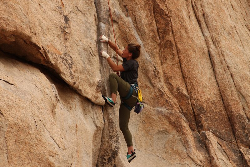 Cleaning Double Cross. Nearing the Crux.