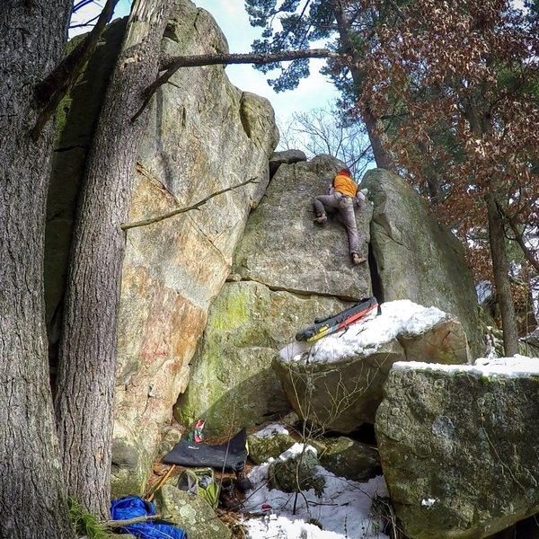 Rock Climbing Photo: Slab is hard.