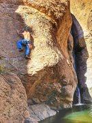 Rock Climbing Photo: dead pool @ queens creek canyon