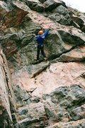 Rock Climbing Photo: Brian drytooling.
