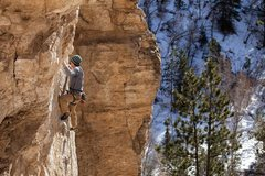 Rock Climbing Photo: 1st pitch of Around the Horn, 5.12a Week 14 of the...