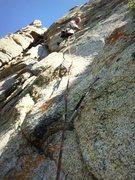 "Rock Climbing Photo: First ascent of ""Horatio Hornslinger"""