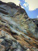 Rock Climbing Photo: Finishing up the FA of Thirstin' Howl