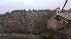 Rock Climbing Photo: View of Suspension Bridge and Giant's Cave but...