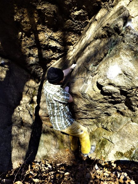 Rock Climbing Photo: Josh making his way off of the start of The Final ...