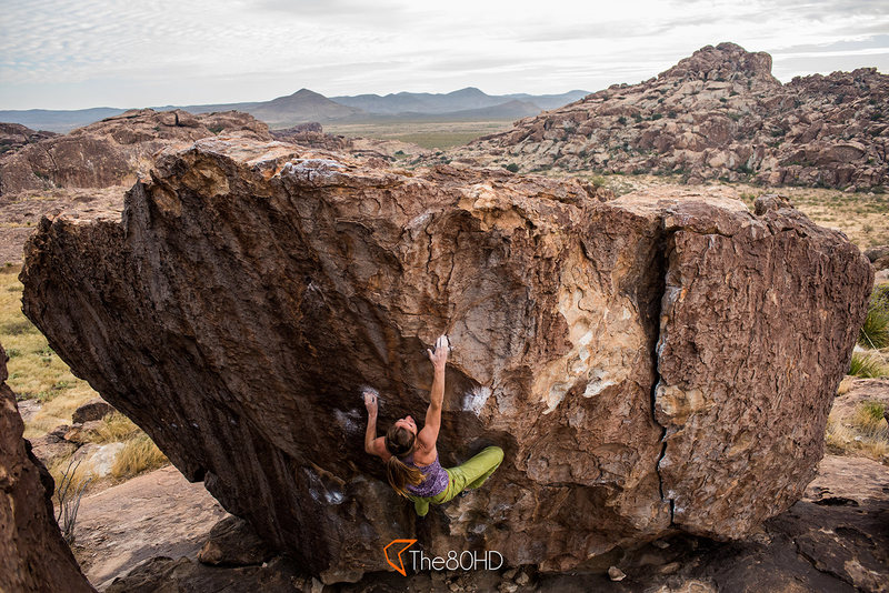 Rock Climbing Photo: Molly Rennie coming close to the top.