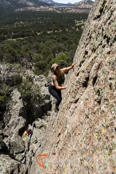 Rock Climbing Photo: Jody Eden walking up the must do warm up Death Sla...