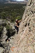 Rock Climbing Photo: Jody Eden walking up the must do warm up Death Sla...