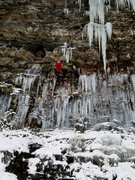Rock Climbing Photo: Running Laps on Step rock at Salmon River Falls