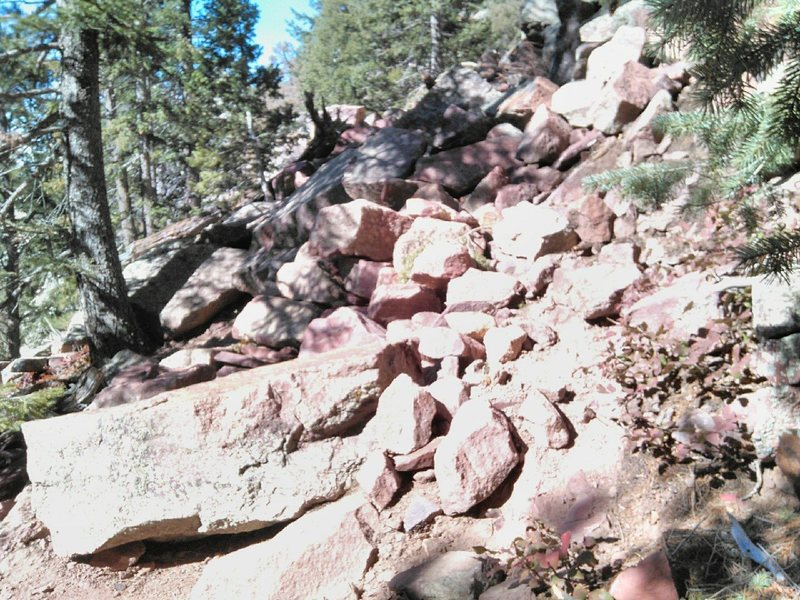 Rock Climbing Photo: This big block slid - it's about halfway betwe...