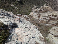 Rock Climbing Photo: Hillary Allen coming up the 2nd pitch of Filo Noro...